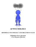 Abnormal Psychology and Treatment Unit Exam for AP Psychology