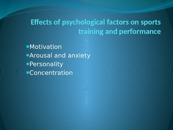 Psychological Effects on Sports Performance PPT