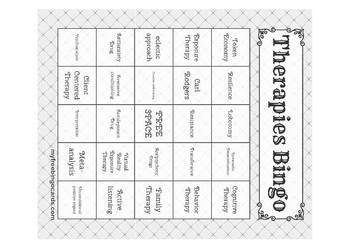 Psychological Therapies Bingo