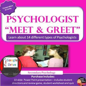 "Psychologist ""Meet & Greet"" Cooperative Activity (Psychology) Print or Digital"