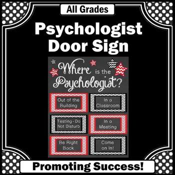 Where is the School Psychologist Office Door Sign, School