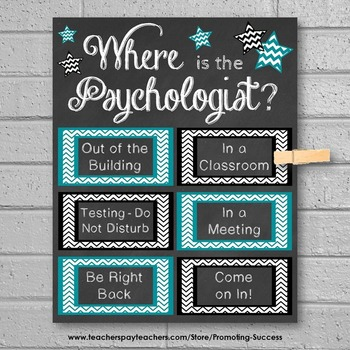 Where is the School Psychologist Gift Idea, Psychology Office Door Sign