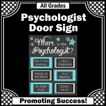 Where is the School Psychologist Poster, Teal and Black Psychology Office Decor