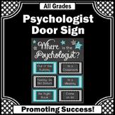 School Psychologist Poster, Teal Black Psychology Office Decor NOT EDITABLE