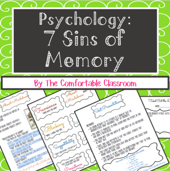 Psychology: 7 Sins of Memory Lesson