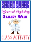 Psychology Abnormal Gallery Walk Mental Disorder Project
