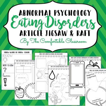 Psychology: Abnormal Psych Eating Disorders Jigsaw
