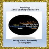 Psychology Active Learning Choice Board