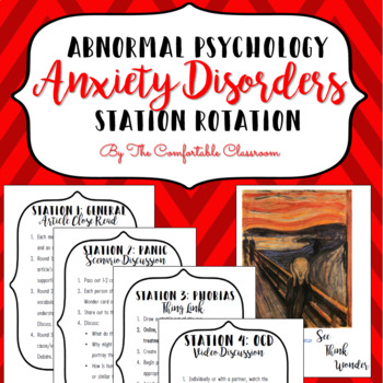 Psychology: Anxiety Disorder Station Rotation