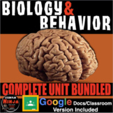 Psychology: Biology & Behavior Entire Unit Bundled: PPTs, Worksheets, Plans+Test