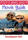 Psychology Bucket List Movie Questions and activity for Development Aging unit