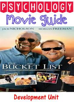Psychology Bucket List Movie Questions and activity for De