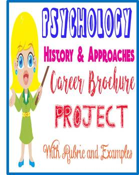Psychology Career Brochure Project Rubric/Example for introduction unit