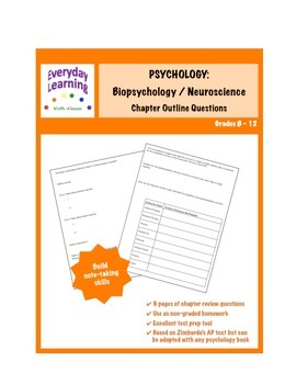 Psychology Chapter Outline Review Questions Biopsychology Neuroscience