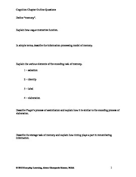 Psychology Chapter Review Questions Cognition