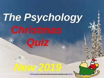 Psychology Christmas Quiz 2019… (UK version)