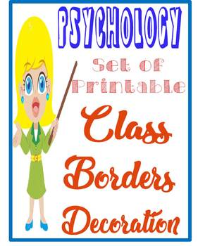 Psychology Classroom Borders for decoration 7 designs for
