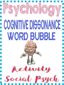 Psychology Cognitive Dissonance Word Bubble Comic Activity for Social Psych Unit