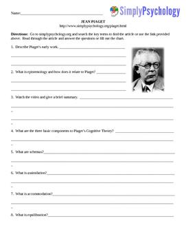Psychology Computer/Internet Assignment Piaget