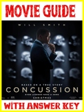 Psychology Concussion Movie Video Guide with KEY