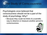 Psychology Consciousness