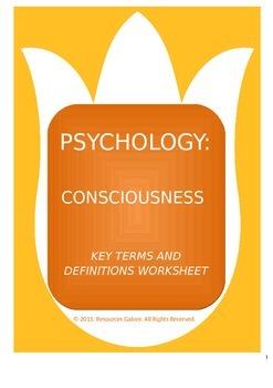 Consciousness - Revision Sheet