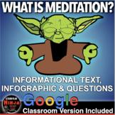 Psychology: Consciousness - Meditation Informational Text & Infographic