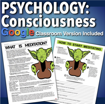 Psychology: Consciousness - Meditation Informational Text & Infographic