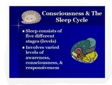 Psychology: Consciousness/Sleep Stages PPT + Analytic Activities