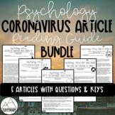 Psychology Coronavirus Article Reading Guide Bundle