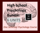 Psychology Course for High School, Psych Bundle, One Semes