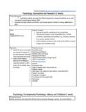 Psychology Curriculum, unit outlines, essential questions, term sets, etc.
