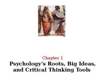 Psychology David G. Myers 4th Edition Chapter 1 Powerpoint