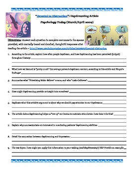 Psychology: Daydreaming ~ Critical Thinking Informational