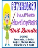 Psychology Development Unit Bundle activities, movie guides, tests