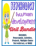Psychology Development Unit Bundle activities, movie guides, tests