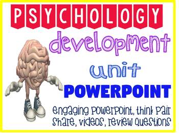 Psychology Human Development unit Fun Powerpoint with review questions