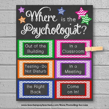 Where is the Psychologist Office Door Sign, Psychology Office Decor, Gift Idea