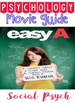 Psychology Easy A Movie Guide Note Graphic Organizer for Social Psychology