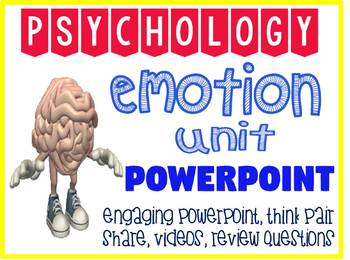 Psychology Emotion Unit  Fun and Engaging PowerPoint with Quiz Questions