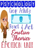 Psychology Emotion Unit React & Act Group Activity for Emo