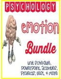 Psychology Emotion Unit bundle PowerPoints and Activity