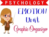 Psychology Emotion unit graphic organizer or note guide