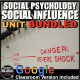 Social Psychology: Social Influence Unit- PPTs, Worksheets, Assessment & Video
