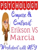 Psychology Erikson vs Marcia Compare Contrast Worksheet fo