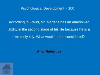 Psychology Final Review Game