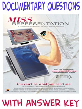 Psychology Gender Studies Sociology Miss Representation questions with KEY