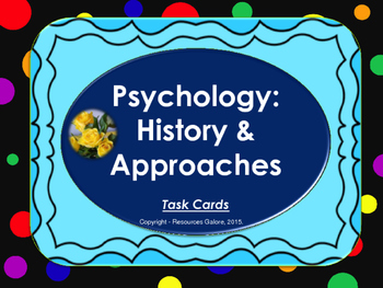 Psychology History & Approaches: Task cards