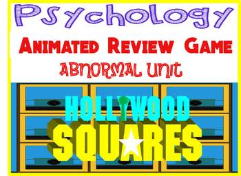 Psychology Hollywood Square ANIMATED Review Game-Abnormal Disorders unit