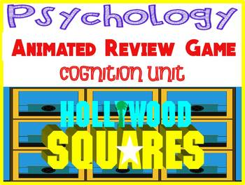 Psychology Hollywood Square ANIMATED Review Game Cognition Thinking Language